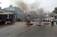 Roadblock in Phulbari