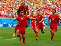 Shaqiri hat-trick takes Switzerland to knockout stage
