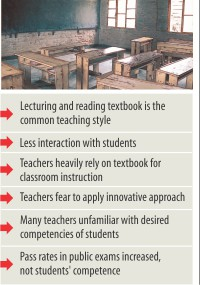 Poor teaching method restrains learners' skill