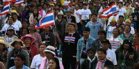 Thai protesters target ministries