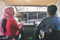 Women who dream to be train drivers