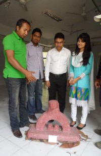 David's solo sculpture exhibition in Chittagong
