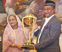 World Cup trophy makes its mark