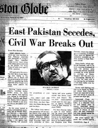 East Pakistan Secedes, Civil War Breaks Out