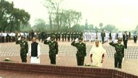 President, PM place wreaths at National Memorial