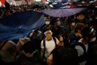 Hong Kong protesters strike back