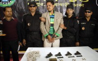 Shahid commissioner held with firearms in capital