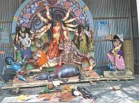 Hindu idols desecrated in Sherpur