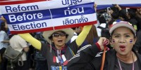 Thai police fire teargas at anti-govt protesters