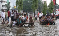 Monsoon inundates Ctg city